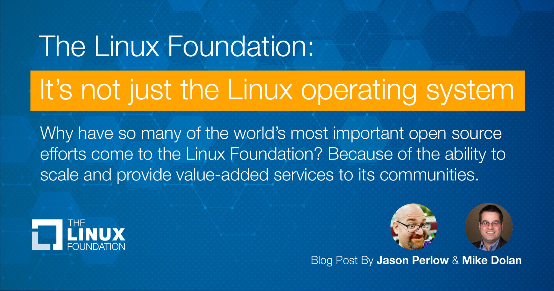 It's not just the Linux operating system